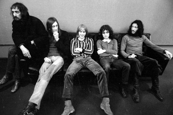 O Fleetwood Mac em 1970, com Peter Green à direita