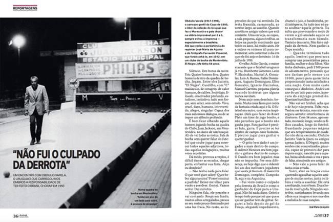 Reportagem de PLACAR com Obdulio Varela