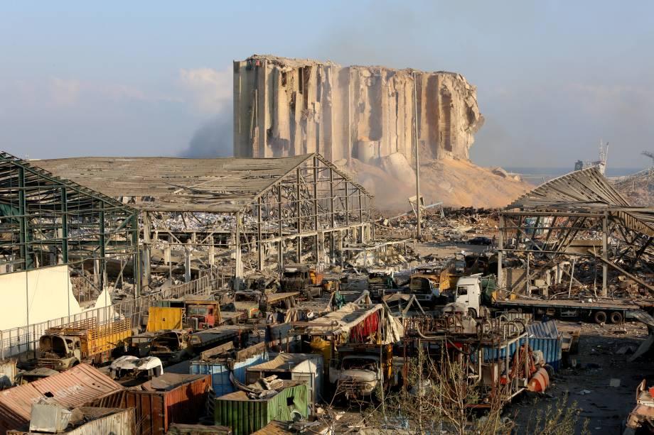Destruição no porto de Beirute - 05/08/2020
