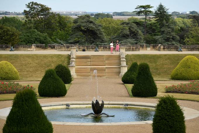 Opening of the East Terrace Garden at Windsor Castle the first time in decades