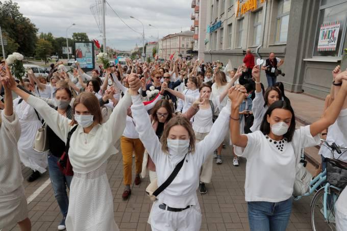 Protesto Bielorrússia