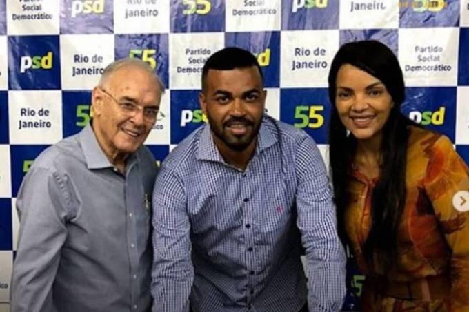 Arolde de Oliveira, Márcio Buba e Flordelis em evento do PSD
