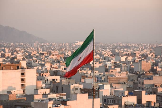 Bandeira do Irã, em Teerã