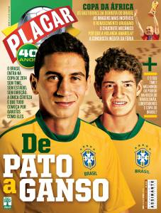 Capa da revista Placar, edição 1344 de julho de 2010.