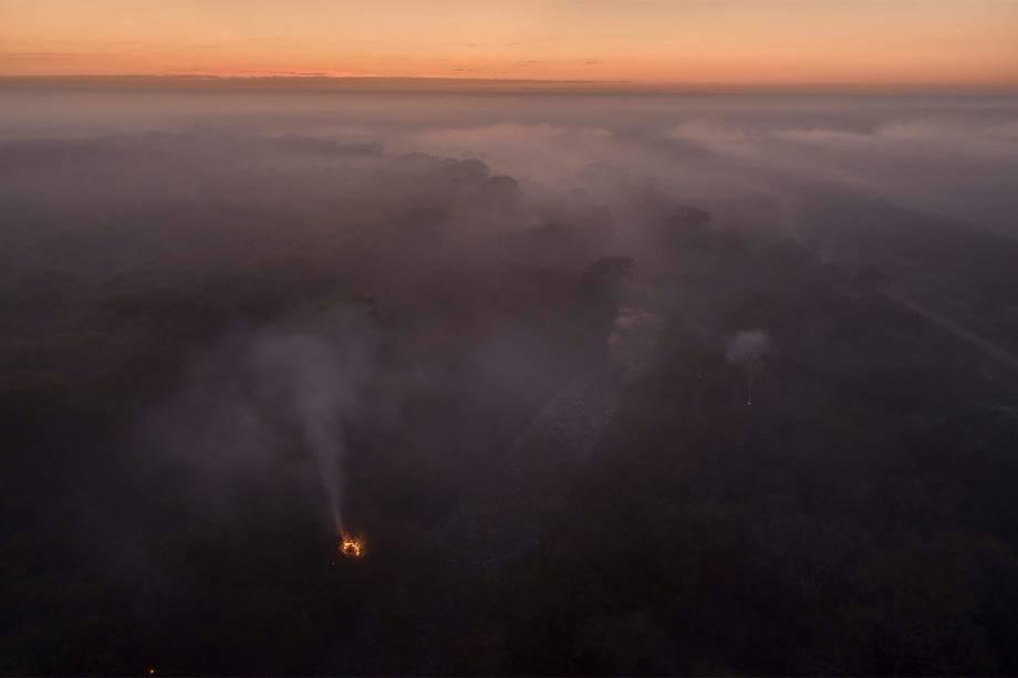 Focos de incêndio se multiplicam a cada dia no Pantanal
