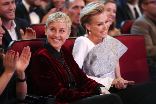 Ellen e a mulher, a atriz Portia de Rossi. As duas estão casadas há 11 anos