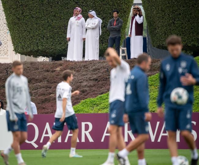 Treino do Bayern de Munique em Doha, em janeiro de 2020