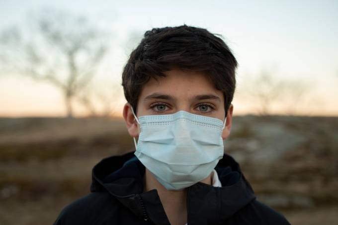 Boy with Surgical Mask