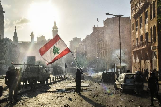Manifestação em Beirute, Líbano