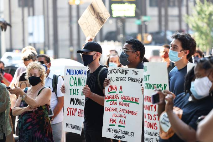 'Resist Evictions' Actions Taken Across New York City As Tenants Struggle To Pay Rent
