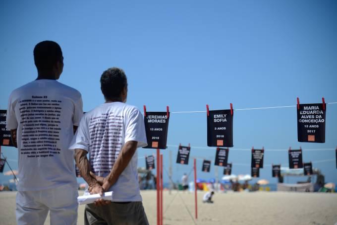 Ato no Rio lembra a morte de crianças vítimas da violência