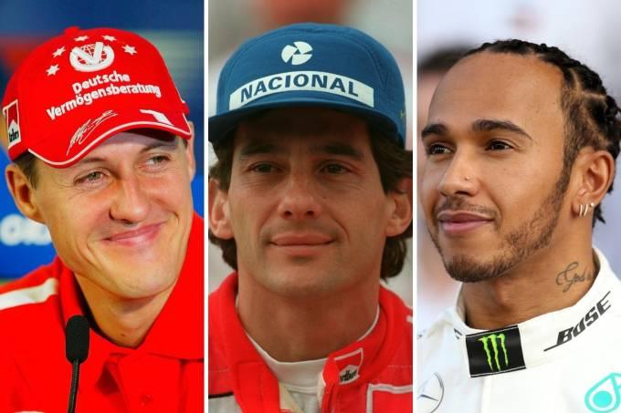 Schumacher-Senna-Hamilton