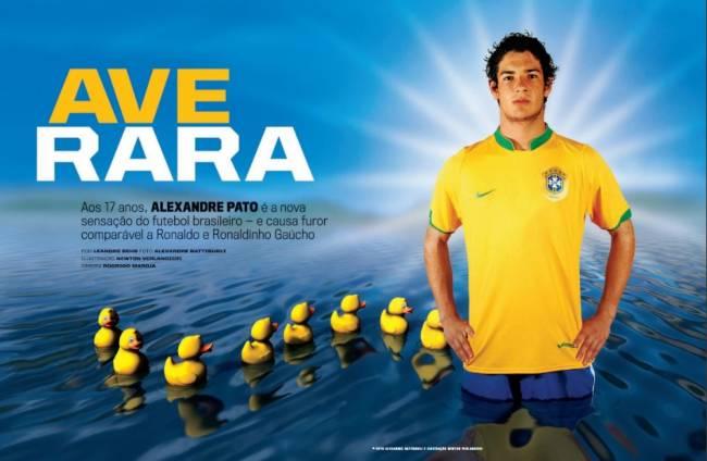 Reportagem de 2007 destacava o surgimento de Alexandre Pato