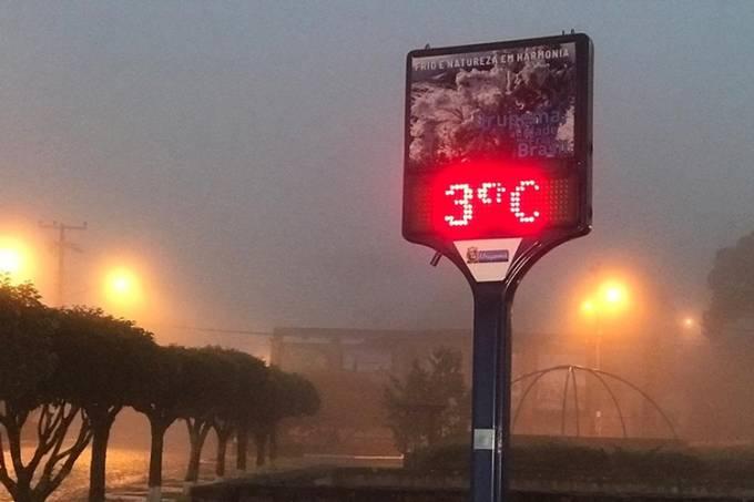 Onda de frio derruba a temperatura no Centro-Sul do país