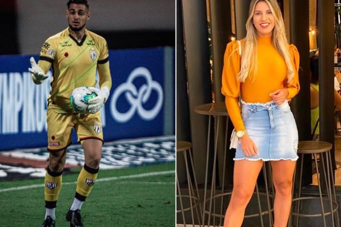 Goleiro Jean e a ex-companheira Milena Bemfica