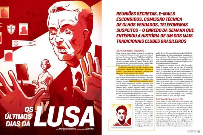 Edição de dezembro de 2014 relembrou a queda da Portuguesa