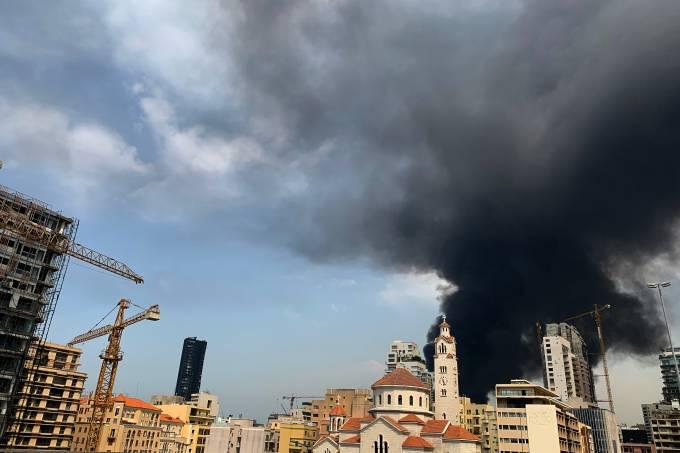 LEBANON-PORT-FIRE