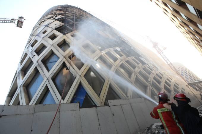 LEBANON-FIRE-HADID