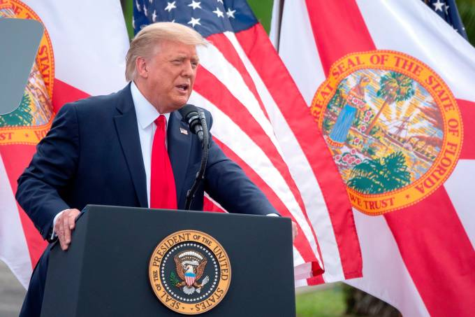 US President Donald J. Trump holds campaign event in Florida