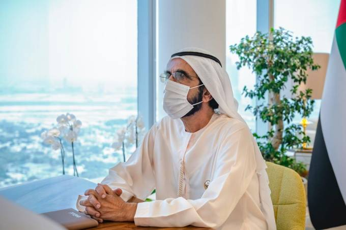 Vice-presidente emiradense e emir de Dubai, xeique Mohamed Bin Rashid Al-Maktum