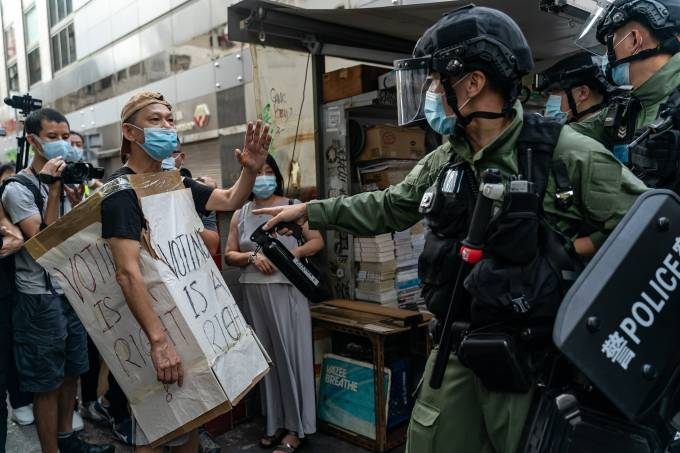 Protesters Rally In Hong Kong On Would-Be Legislative Election Day