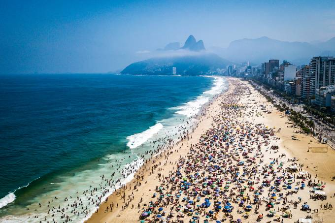 A Sunny Sunday at the Beaches in Rio de Janeiro Amidst High Numbers of Infected People by the Coronavirus (COVID – 19)