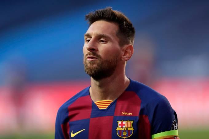 Lionel Messi na goleada diante do Bayern