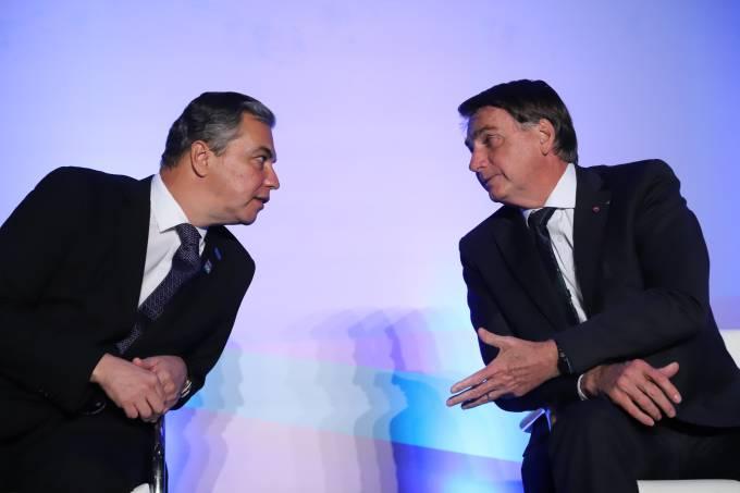 Paulo Solmucci e Jair Bolsonaro