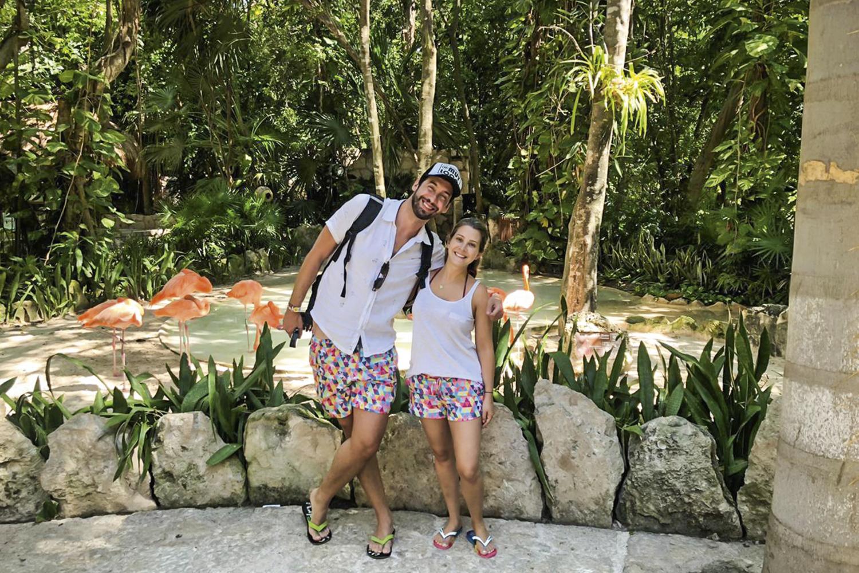 VANTAGEM -Muylaert e Maria Augusta em Cancún: pouca gente e preço baixo -