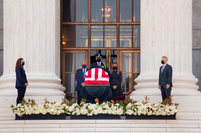 Late Justice Ginsburg lay in repose at the US Supreme Court