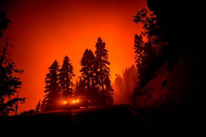 Incendio en el Parque Nacional de las Secuoyas