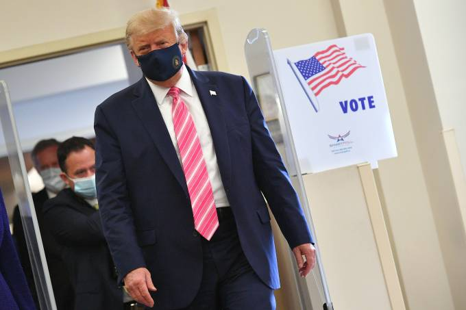 Donald Trump vota antecipadamente nas eleições americanas na Flórida (24/10/2020)