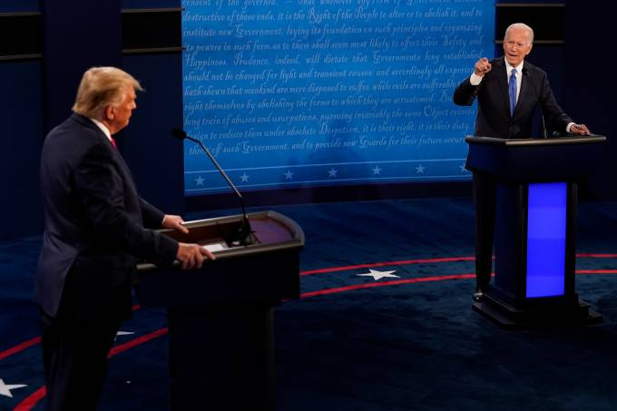 Donald Trump And Joe Biden Participate In Final Debate Before Presidential Election