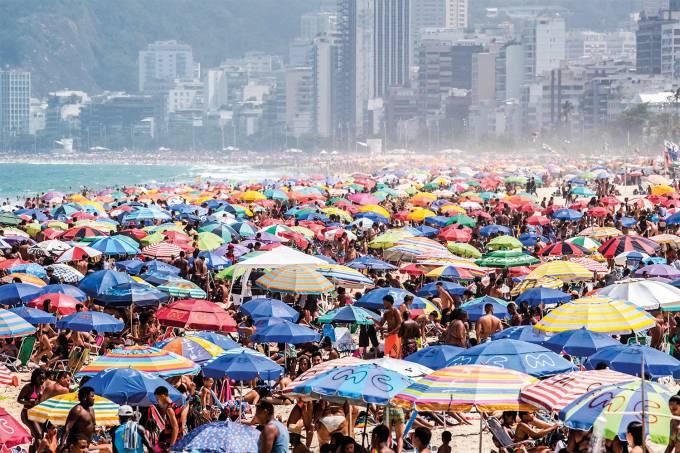 Praia de Ipanema Movimentação