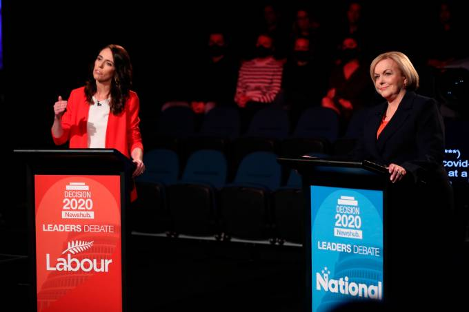 Leaders Debate for the 2020 general election held in Auckland