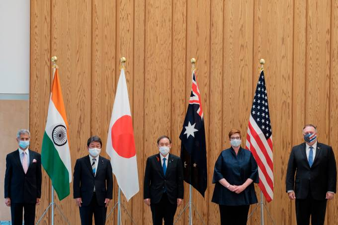 Quad Indo-Pacific meeting at Prime Minister's office in Tokyo