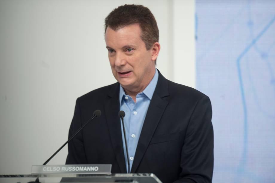 Celso Russomano (Republicanos) durante o debate eleitoral para a prefeitura de São Paulo -