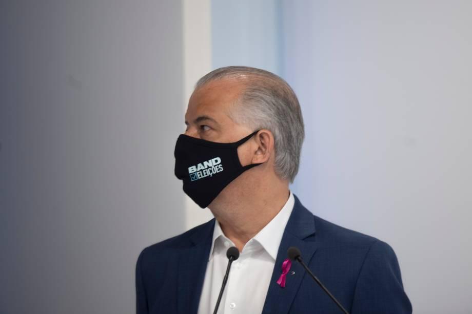 Marcio França (PSB) durante o debate eleitoral para a prefeitura de São Paulo -