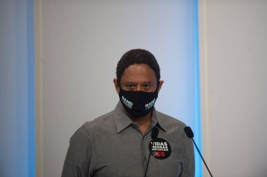 Orlando Silva (PCdoB) durante o debate eleitoral para a prefeitura de São Paulo -