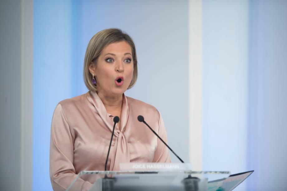 Joice Hasselmann (PSL) durante o debate eleitoral para a prefeitura de São Paulo -