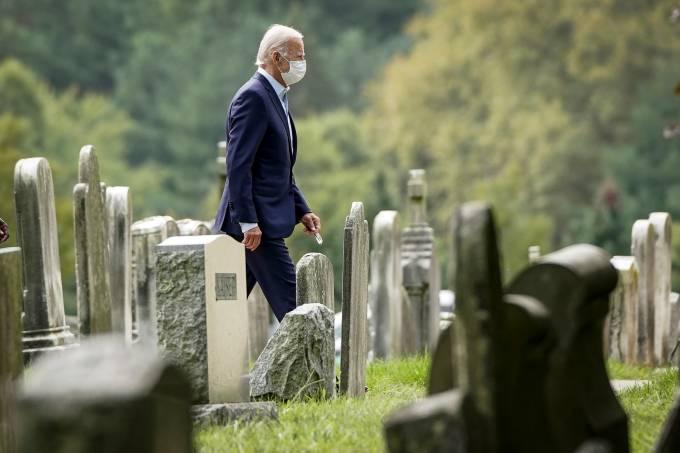 Democratic Presidential Nominee Joe Biden Attends Church Service In Delaware