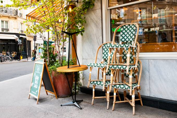 Charming cafe in Paris