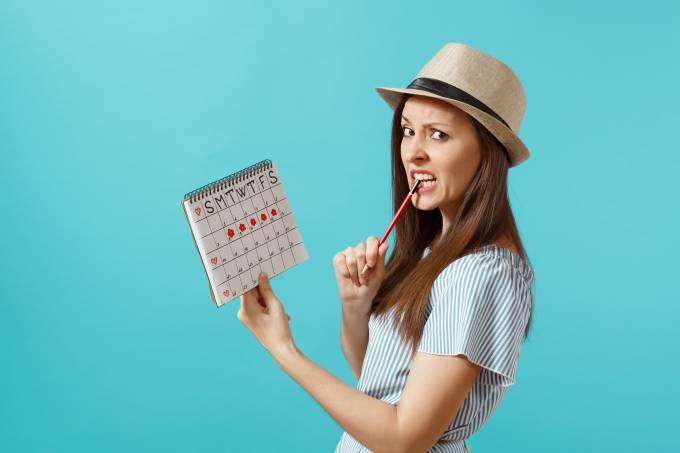 menstruação – tabelinha – ciclo menstrual – mulher
