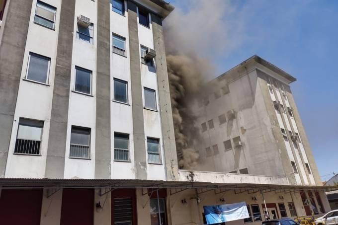 Incêndio Hospital Federal de Bonsucesso – Reprodução TV Globo