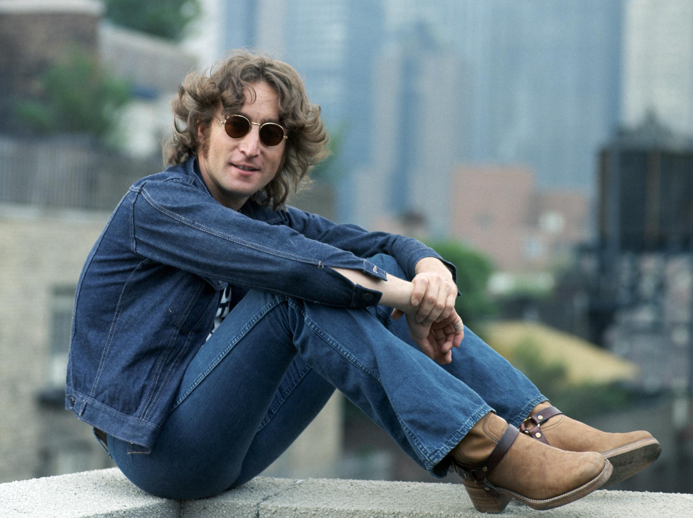John Lennon em Nova York por Bob Gruen -