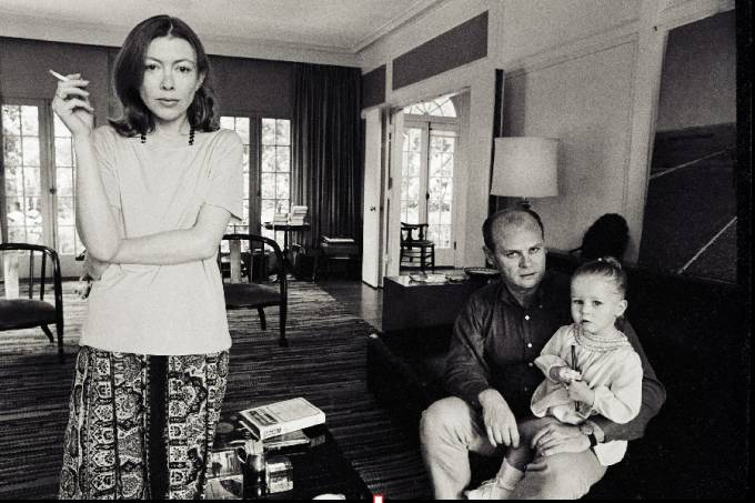 A escritora e jornalista americana Joan Didion
