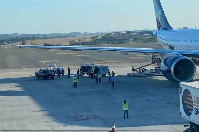 Flagrante feito pela PF no aeroporto de Viracopos