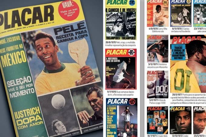 Capas de Pelé na PLACAR