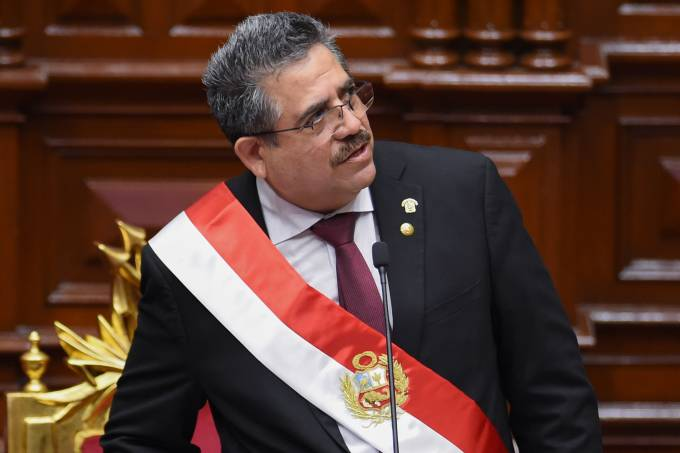PERU-POLITICS-CRISIS-MERINO-INAUGURATION