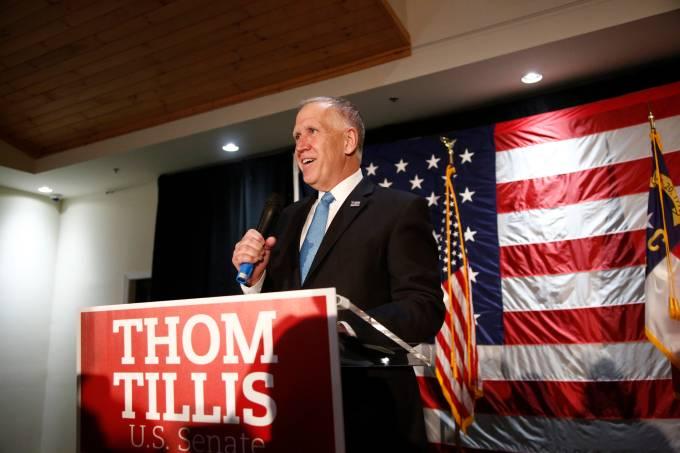North Carolina Senator Thom Tillis Hosts Election Night Watch Party